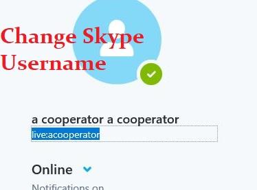 change skype username