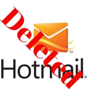 delete hotmail accounr