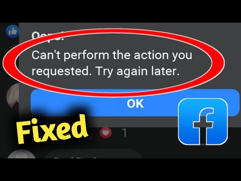 cant perform this action fb